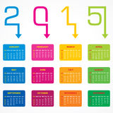 Calendar of 2015 with arrow design. Vector illustration Stock Photography