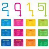 Calendar of 2015 with arrow design Stock Photography