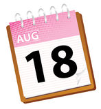Calendar august. In vector mode Royalty Free Stock Images
