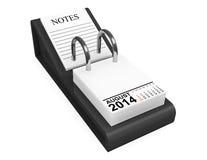 Calendar August 2014 Royalty Free Stock Photos