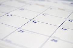 Calendar Background Stock Photo