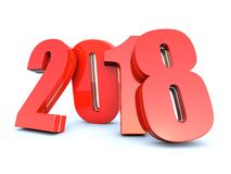 2018 calendar background. Happy New Year 2018 calendar background 3D render Stock Photo