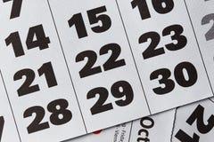 Calendar background Stock Photos