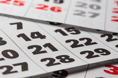 Calendar background Royalty Free Stock Photography