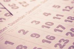 Calendar background Royalty Free Stock Photos