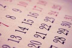 Calendar background Royalty Free Stock Image