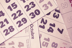 Calendar background Stock Photo