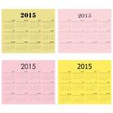 Calendar for 2015 on background. Stock Photos