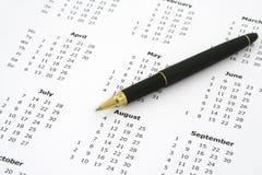 Calendar and ballpoint pen #2 Royalty Free Stock Image