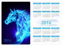 Calendar 2014. Stock Photos