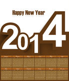 Calendar 2014 beautiful  design. Illustration Stock Images