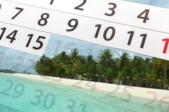 Calendar  with beautiful  landscape Royalty Free Stock Photos