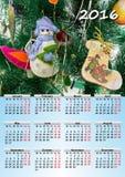 Calendar 2016 A4 Royalty Free Stock Image