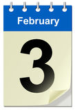 Calendar with bend page Royalty Free Stock Photography