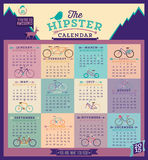 Calendar with bicycles for the 2015 year. Stock Images