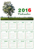Calendar 2016 Royalty Free Stock Photos