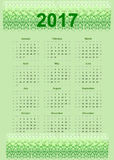 2017 calendar Biological Design. Design of Biological 2017 calendar. All months of year are displayed. Nature artwork with green tones Royalty Free Stock Photography
