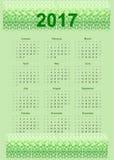 2017 calendar Biological Design. Royalty Free Stock Photography