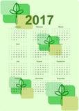 2017 calendar, Biological Design. Royalty Free Stock Images