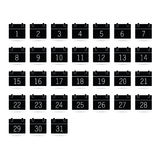 Calendar black and white vector Stock Images