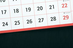 Calendar and Blackboard Royalty Free Stock Photo