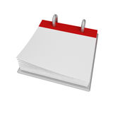 Calendar Blank. Calendar with a blank page and a few corners turned Stock Illustration