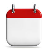Calendar Blank. 3D icon isolated on white Royalty Free Stock Images