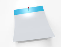 Calendar blank 3D icon Stock Images