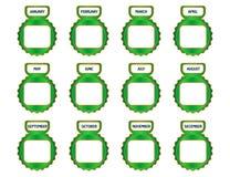 Calendar icons- cdr format Stock Photos
