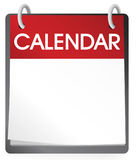 Calendar Blank 2014 isolated on white background Stock Images