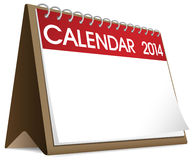 Calendar Blank 2014 Vector Royalty Free Stock Images