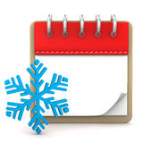 Calendar Winter Royalty Free Stock Photos