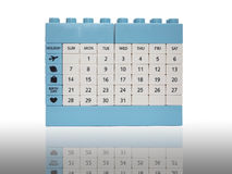 Calendar brick toy isolation on white with shadow Stock Image