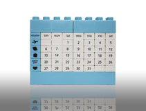 Calendar brick toy isolation on white with shadow Stock Photography