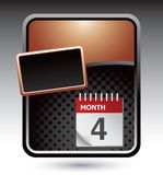 Calendar on bronze template Stock Images