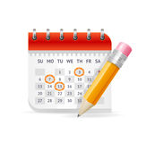 Calendar Business Concept. Vector Royalty Free Stock Image