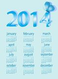 Calendar for 2014 with  butterfly.  Royalty Free Stock Photos