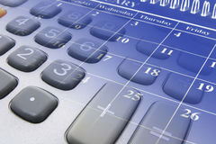 Calendar and Calculator Keys Stock Photo