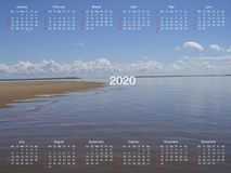 Calendar for 2020. vector illustration