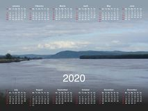 Calendar for 2020. royalty free stock photo