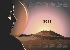 Calendar for 2018 Royalty Free Stock Photography