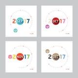 2017 Calendar Calendar Vector  Modern Design. 2017 Calendar Calendar Vector  Design Royalty Free Stock Photos