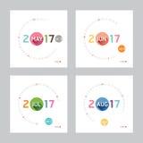 2017 Calendar Calendar Vector  Modern Design. 2017 Calendar Calendar Vector  Design Stock Photos