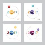 2017 Calendar Calendar Vector  Modern Design. 2017 Calendar Calendar Vector  Design Royalty Free Stock Image