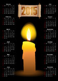 Calendar with a candle and scroll Royalty Free Stock Photography