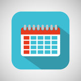 Calendar cartoon date day shadow and blue background Royalty Free Stock Images
