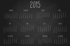 Calendar-2015-chalkboard Zdjęcie Royalty Free