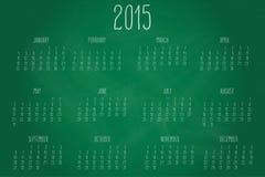 Calendar-2015-chalkboard Immagini Stock