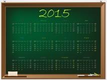 2015 calendar on chalkboard. 2015 calendar hand drawn on green chalkboard Royalty Free Stock Photo