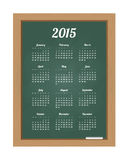Calendar 2015. On chalkboard isolated on white background Vector Illustration